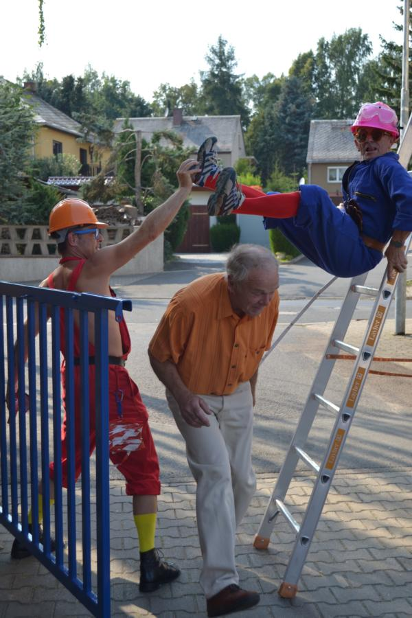 Lustige Bauarbeiter Los Lachos