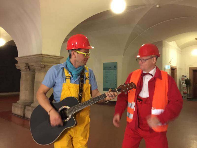 singende Bauarbeiter